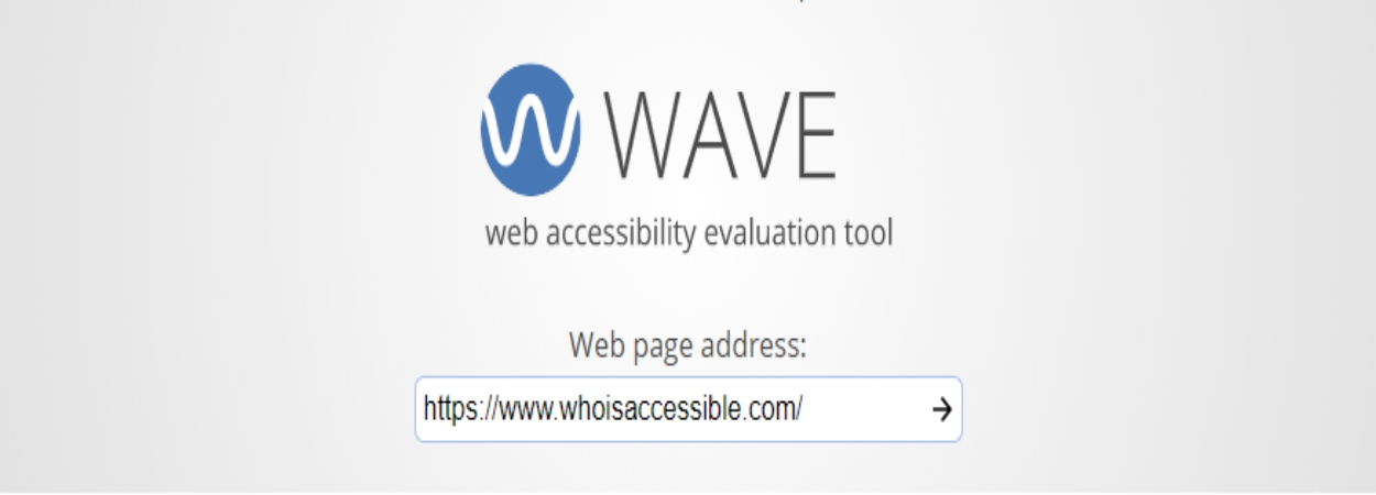 WAVE Web Accessibility Homepage Evaluation Tool