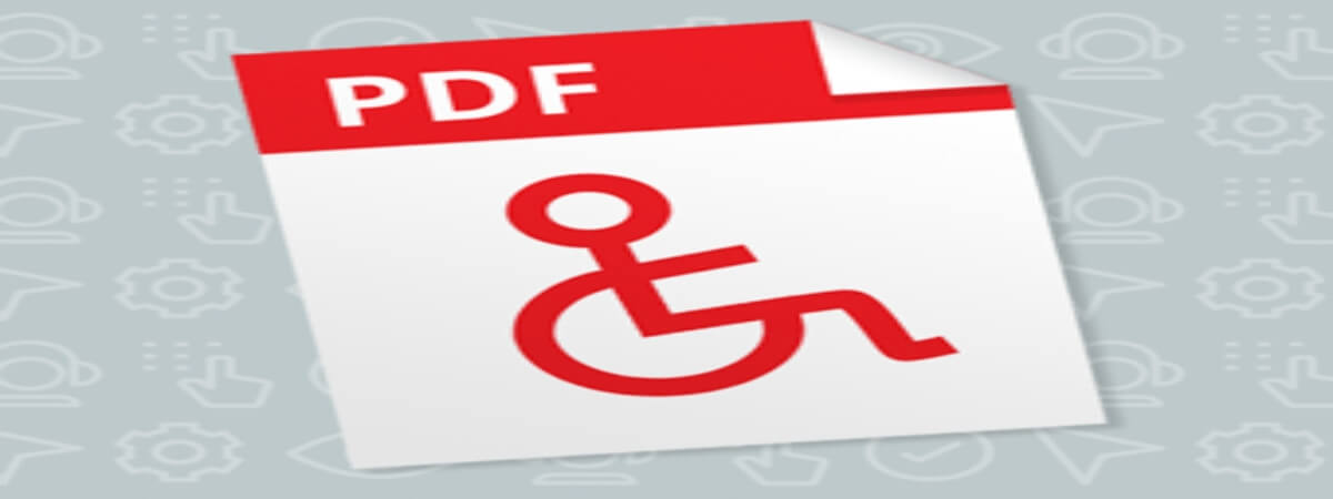 the accessibility icon on a PDF document